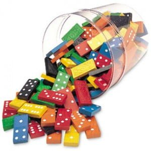 Color Dominoes in a Bucket - Set of 168 - - While Supplies Last